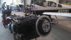 FI Engine on hoist